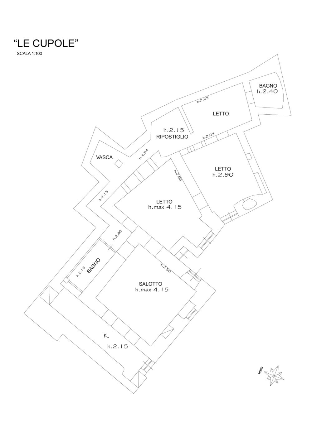 Le Cupole. Plan of the apartment